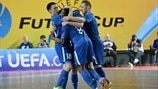 MFK Dinamo players celebrate