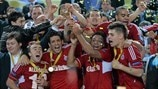 Kairat Almaty players celebrate victory