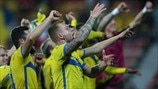 Sweden players celebrate