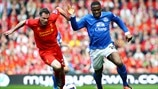 Jamie Carragher (Liverpool FC) & Victor Anichebe (Everton FC)