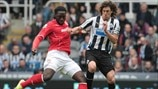 Kenwyne Jones (Cardiff City AFC) & Fabricio Coloccini (Newcastle United FC)