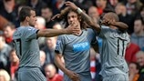 Newcastle United FC players celebrate