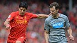 Luis Suárez (Liverpool FC) & Mike Williamson (Newcastle United FC)