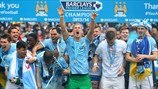Manchester City FC players celebrate