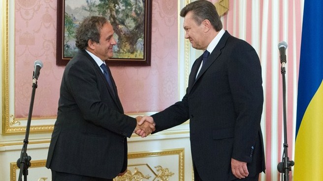 Michel Platini in Ukraine