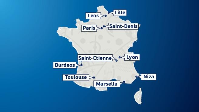 Euro Copa Francia 2.016 Venues_map